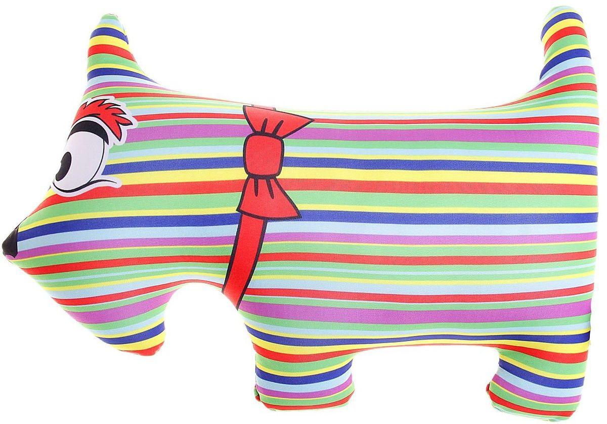 Мнушки Мягкая игрушка-антистресс Собака полосатая 27 см 164050