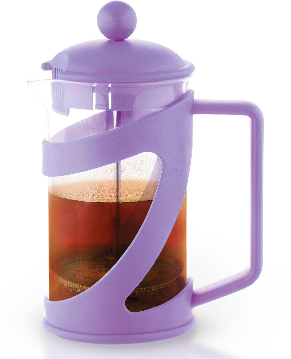 Заварочный чайник Fissman Arabica, с поршнем, цвет: лиловый, 800 мл. 9041FP-9041.800