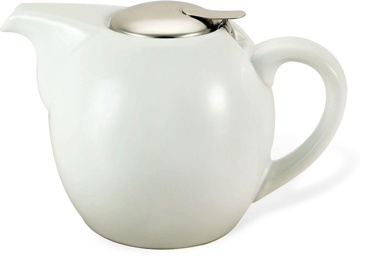 Заварочный чайник Fissman, с ситечком, цвет: белый, 1300 мл. 9201TP-9201.1300