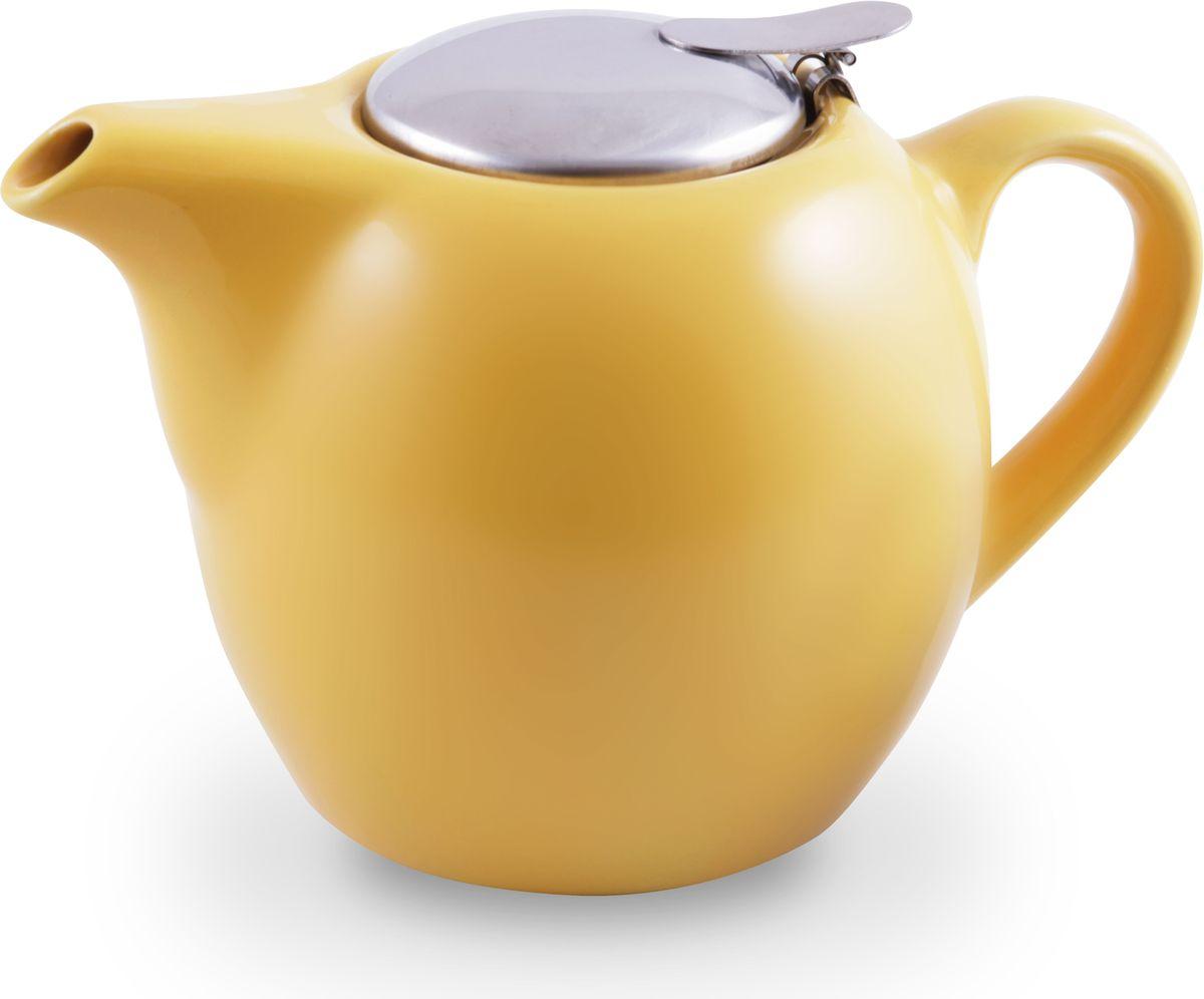 """Заварочный чайник """"Fissman"""", с ситечком, цвет: желтый, 750 мл. 9202 TP-9202.750"""