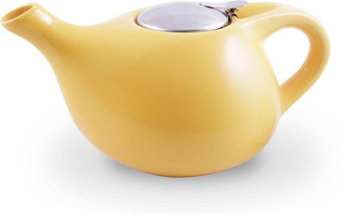 Заварочный чайник Fissman, с ситечком, цвет: желтый, 1300 мл. 9203TP-9203.1300