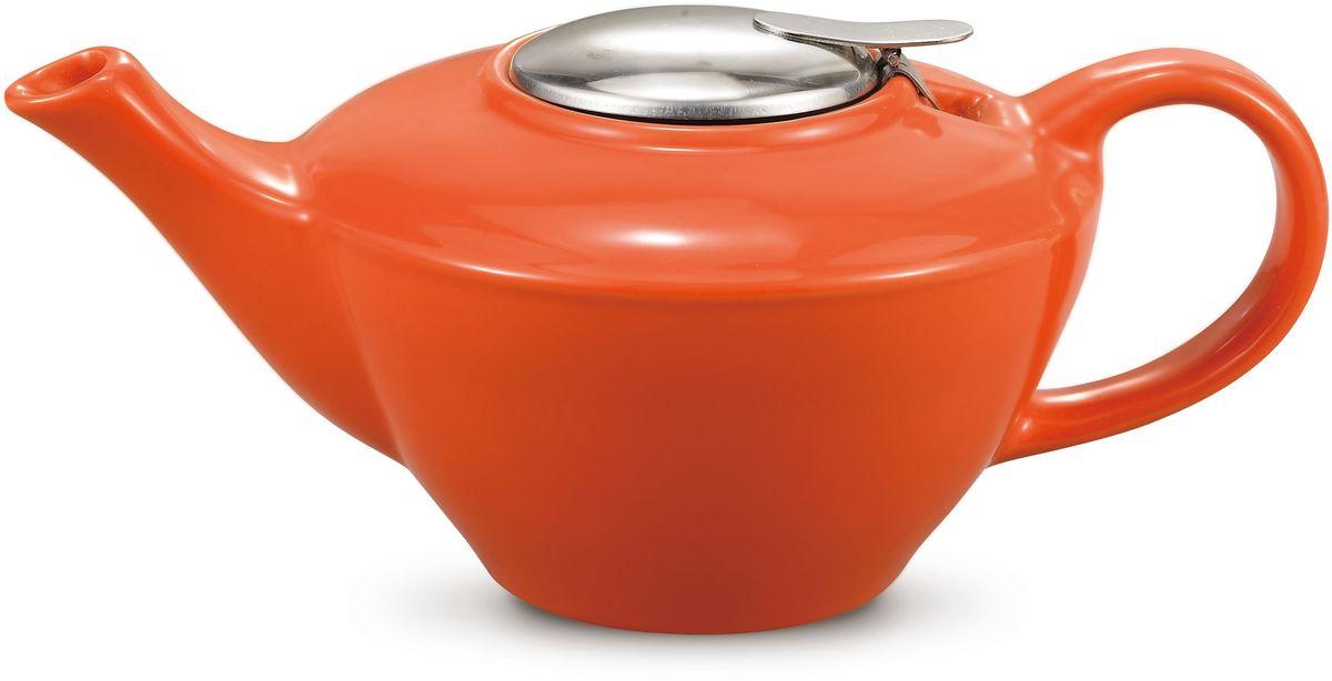 Заварочный чайник Fissman, с ситечком, цвет: оранжевый, 850 мл. 9278TP-9278.850