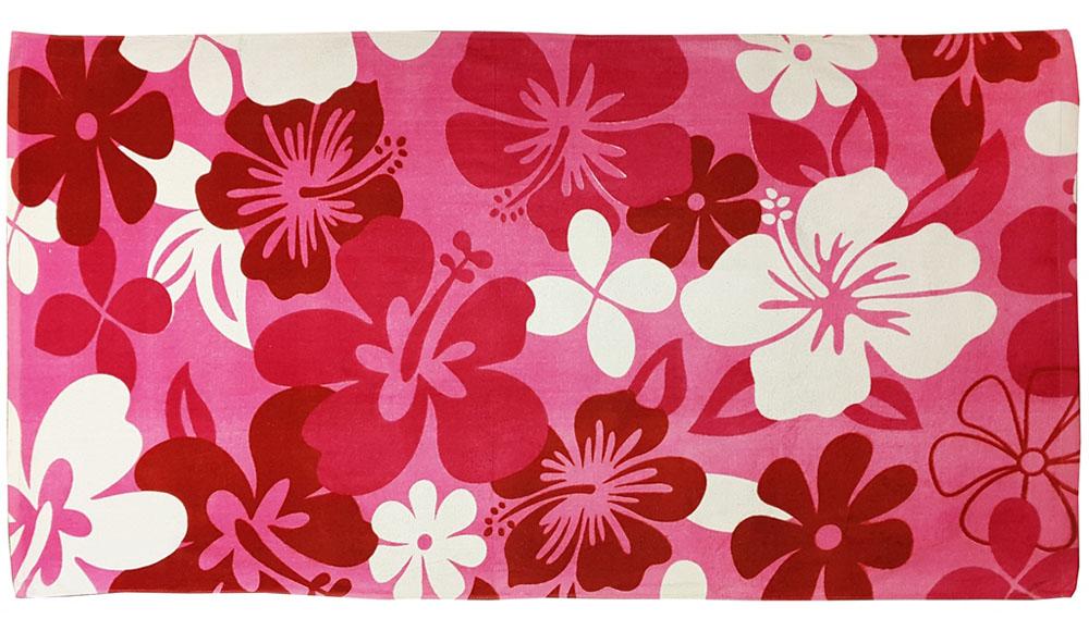 Полотенце пляжное Bonita, махровое, цвет: красный, 75 x 150 см1010216676Размер: 75*150. Состав: 100% хлопок. Страна изготовителя: Китай