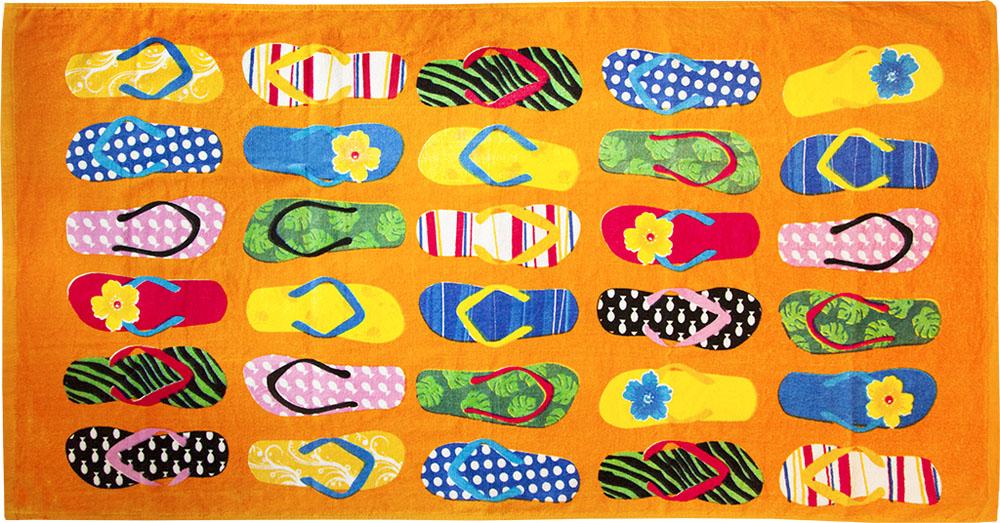 Полотенце пляжное Bonita, махровое, цвет: оранжевый, 75 x 150 см1010216679Размер: 75*150. Состав: 100% хлопок. Страна изготовителя: Китай