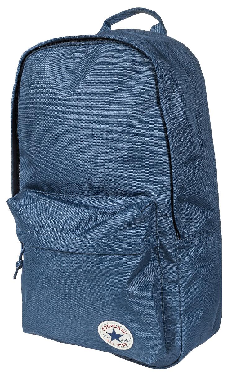Рюкзак городской Converse Edc Poly Backpack, цвет: синий. 1000332941010003329410Рюкзак городской Converse выполнен из полиэстера. Модель с одним отделением застегивается на молнию. Передняя стенка оформлена объемным карманом на молнии. Внутри имеется вместительный карман. Рюкзак оснащен широкими регулируемыми по длине плечевыми лямками и петлей для подвешивания.