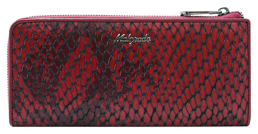 Клатч-кошелек женский Malgrado, цвет: красный. 76002-5250176002-52501Элегантный клатч-кошелек Malgrado изготовлен из высококачественной натуральной кожи с фактурным тиснением под кожу рептилии, оформлен металлической фурнитурой с символикой бренда. Изделие закрывается на застежку-молнию. Внутри расположены: два отделения для купюр, карман для мелочи на застежке-молнии, два кармана для мелких документов, двенадцать кармашков для визиток и кредитных карт. На тыльной стороне изделия расположен прорезной карман на застежке-молнии. Изделие упаковано в фирменную металлическую коробку. Стильный кошелек не оставит равнодушной ни одну представительницу прекрасной половины человечества.