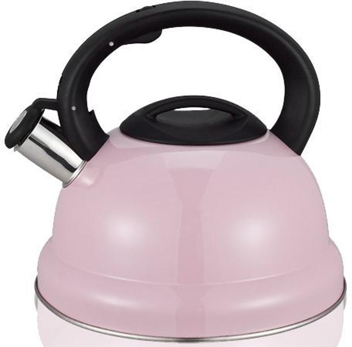 Чайник со свистком MiEssa, цвет: розовый, 3 лM11-22ч3/0