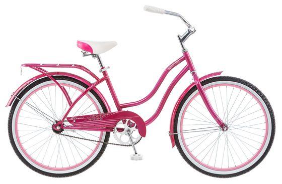 Велосипед городской Schwinn Baywood, для девочки, рама 14, колеса 24, 1 скорость, цвет: розовыйS2492Ярко-розовый круизёр Schwinn Baywood 24 для ярких девушек, любящих кататься под пристальными взглядами восхищенных прохожих! Сочетание высокого стиля и удобства в одном велосипеде. Безопасная заниженная рама, широкий руль, анатомическое седло на пружинах – всё это залог комфортной романтической поездки. Велосипед дополняют полноразмерные розовые крылья, розовый багажник и розовая защита цепи. Идеален для гламурных особ! • Прочная заниженная рама размером 14 • Седло и руль регулируются по высоте и наклону • Широкий и удобный руль • Полноразмерные крылья • Багажник в цвет велосипеда • Полноразмерная защита цепи • Подножка в комплекте • Колёса 24 • Для подростков 9-12 лет • Для роста 125-155см