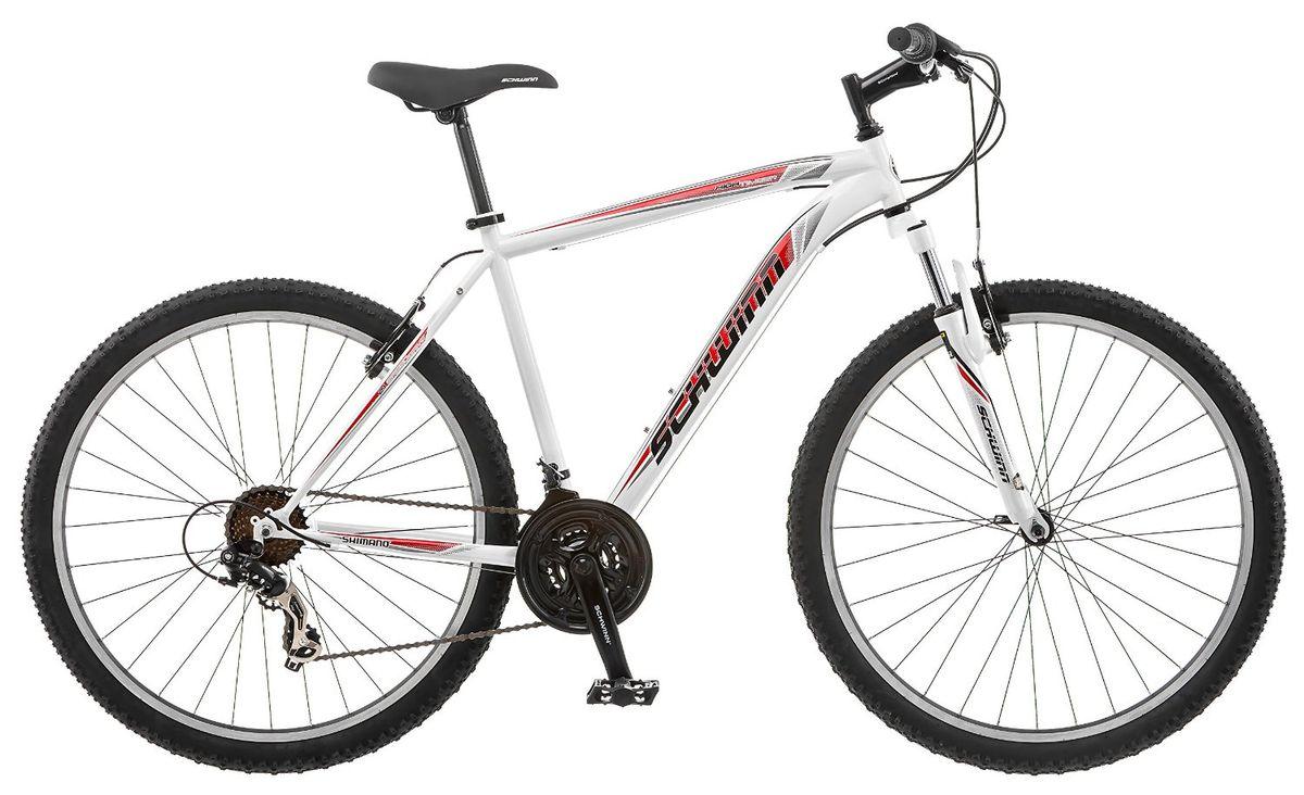 Велосипед горный Schwinn High Timber, женский, рама 16, колеса 26, 21 скорость, цвет: голубойS3029AHigh Timber Woman – это спортивный велосипед для девушек, предпочитающих активный отдых. Любите кататься по любым ландшафтам с комфортом, устойчивостью, манёвренностью и главное безопасностью? Горный велосипед High Timber Woman со спортивной посадкой станет верным спутником для любой прогулки. Этот небесно-голубой байк оснащен амортизационной вилкой, которая отлично отрабатывает неровности и уменьшает вибрации на руле. Заниженная рама велосипеда размером 16 позволяет кататься в платье или сарафане, и быстро спрыгнуть в непредвиденной ситуации. • Прочная заниженная MTB рама размером 16 • Амортизационная вилка с подпружиненными пыльниками • Простые в настройке и обслуживании ободные тормоза для любой погоды • Переключатели передач Shimano Tourney • 21 скорость • Руль и седло регулируются по высоте и наклону • Защита цепи • Алюминиевые обода • Быстросъёмные колёса на эксцентриковых осях • Подножка в комплекте • Колёса 26