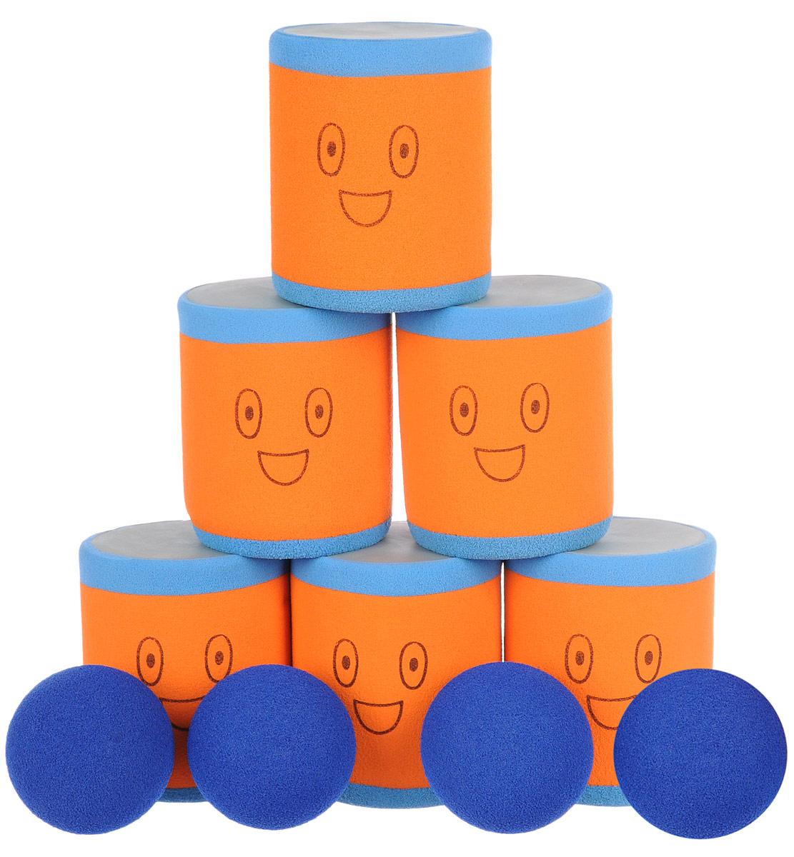 Safsof Игровой набор Городки цвет голубой оранжевый синий