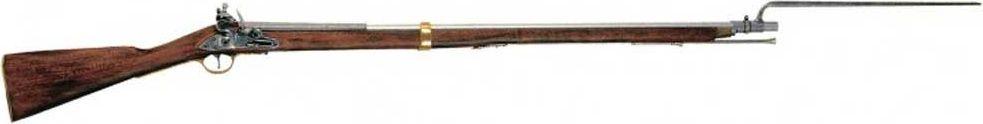 Ружье Браун Бесс. Оружейная реплика. Англия, эпоха Наполеона, 1799-1815 годаD7/1054ствол-Zamak приклад-дерево