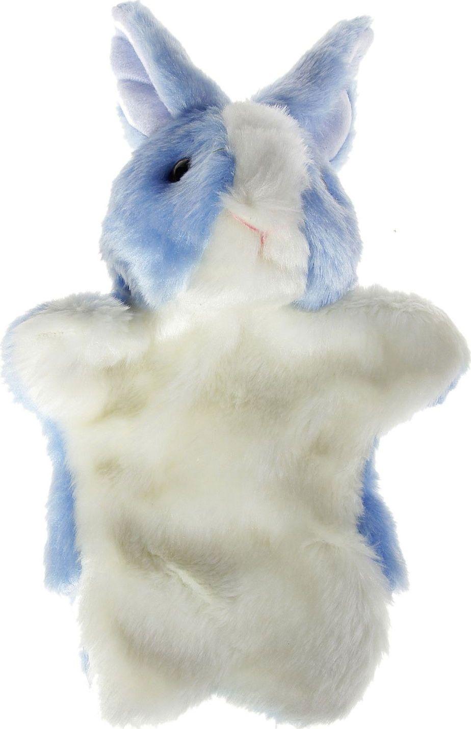Sima-land Мягкая игрушка на руку Заяц цвет голубой 305061