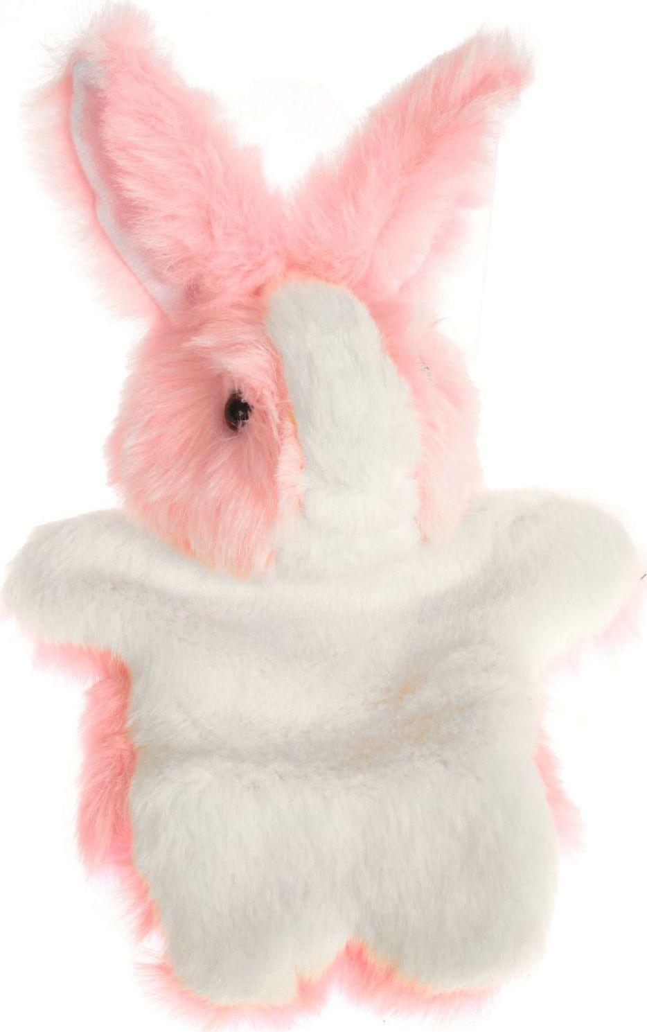 Sima-land Мягкая игрушка на руку Заяц цвет розовый 305071