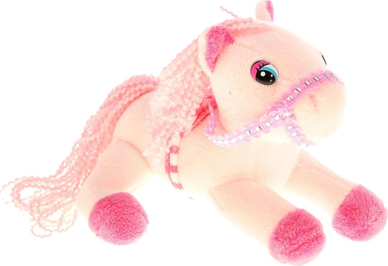 Sima-land Музыкальная игрушка Лошадь с попоной цвет розовый 326355