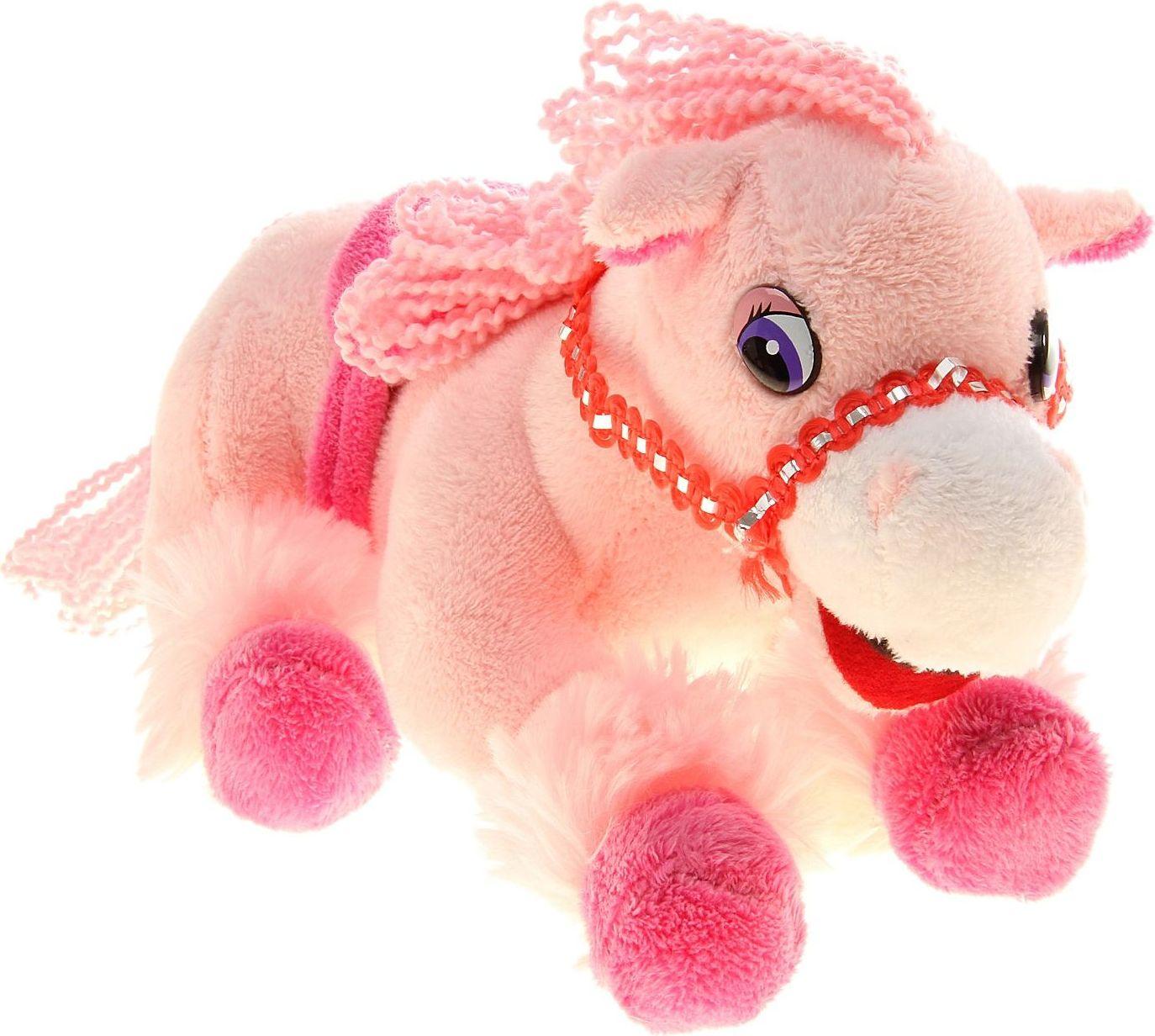 Sima-land Музыкальная игрушка Лошадь цвет розовый 326356