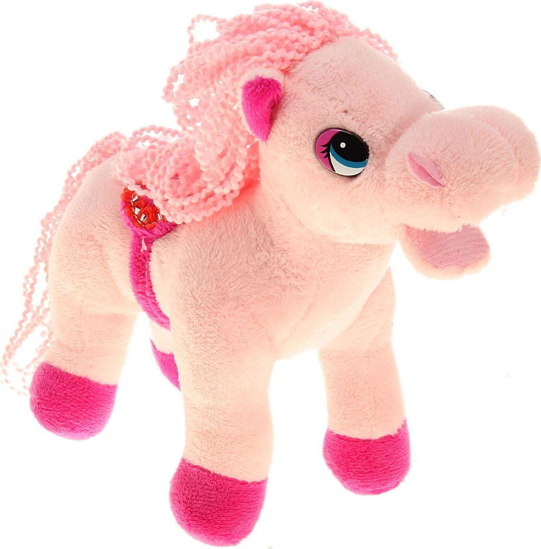 Sima-land Музыкальная игрушка Лошадь кудрявая цвет розовый 326372