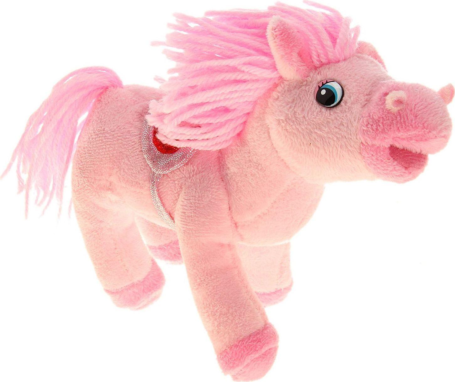 Sima-land Музыкальная игрушка Лошадь кудрявая цвет розовый 326373