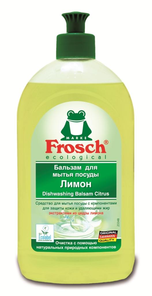 Бальзам для мытья посуды Frosch, с ароматом лимона, 500 мл707069Бальзам для мытья посуды Frosch отлично удаляет жир и грязь с помощью натуральных природных компонентов из цедры лимона. Особенности бальзама для мытья посуды Frosch: - до блеска отмывает посуду; - оставляет после себя приятный, свежий лимонный аромат; - смываемость соответствует ГОСТ; - формула Зеленой Силы с натуральными ингредиентами, подчеркивающими качество очистки и ухода; - с ПАВ возобновляемого растительного происхождения, с высоким быстрым биологическим расщеплением; - безопасные для кожи формулы, протестированные дерматологами. Минимальное использование мягких консервантов и тщательно отобранных ароматизаторов или полный отказ от них; - отсутствие опасных химикатов, таких как фосфаты, бораты, формальдегиды, галогенорганические компоненты, ПВХ; - сниженная нагрузка на окружающую среду благодаря сокращению использования упаковочных материалов. Прогрессивное использование переработанных и перерабатываемых материалов; -...
