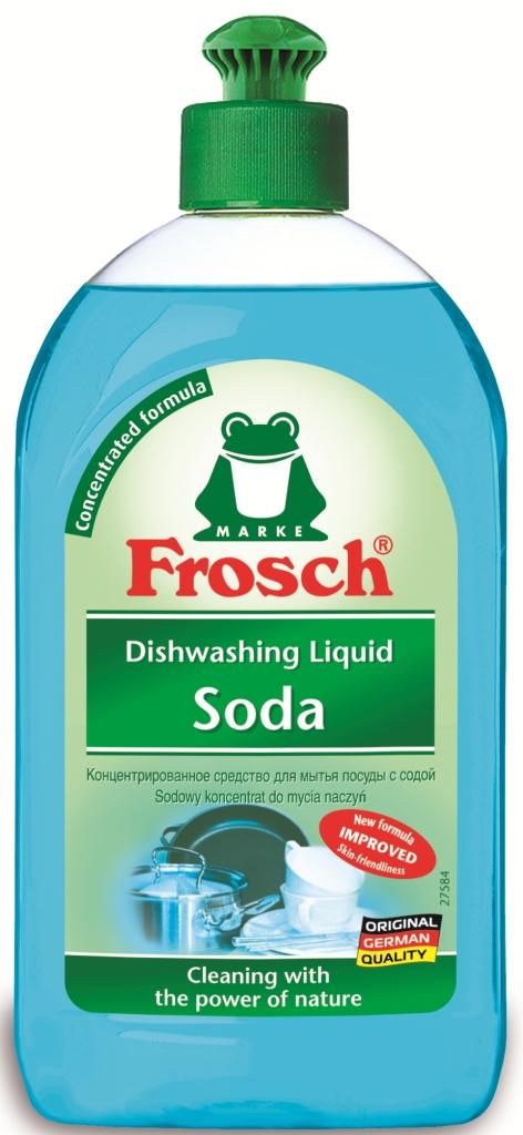 Средство для мытья посуды Frosch, концентрированное, с содой, 500 мл106291Средство Frosch предназначено для мытья посуды. Оно эффективно расщепляет жиры, очищает посуду, столовые приборы, стеклянные изделия от загрязнений, благодаря наличию в составе продукта концентрированной формулы и натуральной соды. Средство экономично и обладает приятным ароматом. Торговая марка Frosch специализируется на выпуске экологически чистой бытовой химии. Для изготовления своей продукции Frosch использует натуральные природные компоненты. Ассортимент содержит все необходимое для бережного ухода за домом и вещами. Продукция торговой марки Frosch эффективно удаляет загрязнения, оберегает кожу рук и безопасна для окружающей среды. Характеристики: Объем: 500 мл. Производитель: Германия. Товар сертифицирован.