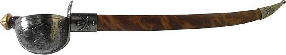 Сабля пирата Барбаросса. Оружейная реплика. XVI век, никельD7/4143NQZamak