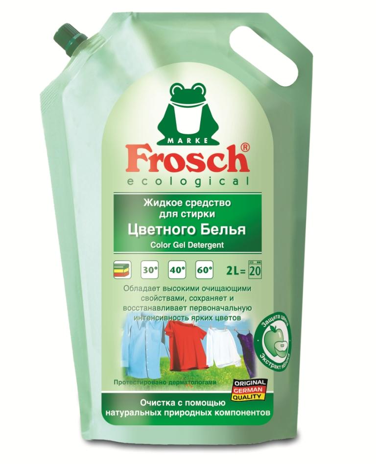 Жидкое средство для стирки Frosch, для цветного белья, 2 л709332Жидкое средство Frosch предназначено для стирки цветных и темных тканей при температуре от 20°C до 60° С. Благодаря составу с экстрактом яблока и специальной добавке для длительной защиты красок, вещи меньше выцветают и линяют. Кристальная чистота и восстановление цвета ткани - ваши поблекшие вещи будут выглядеть как новые. Подходит для предварительной обработки трудновыводимых пятен. Порошок предназначен как для машинной, так и для ручной стирки. Торговая марка Frosch специализируется на выпуске экологически чистой бытовой химии. Для изготовления своей продукции Frosch использует натуральные природные компоненты. Ассортимент содержит все необходимое для бережного ухода за домом и вещами. Продукция торговой марки Frosch эффективно удаляет загрязнения, оберегает кожу рук и безопасна для окружающей среды. Характеристики: Объем: 2 л. Товар сертифицирован. Уважаемые клиенты! Обращаем ваше...