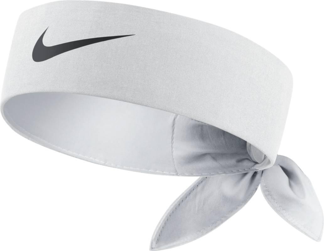 Повязка на голову Nike Tennis Headband, цвет: белый. 646191-100. Размер универсальный646191-100Повязка на голову Nike Tennis Headband из мягкого влагоотводящего текстиля.