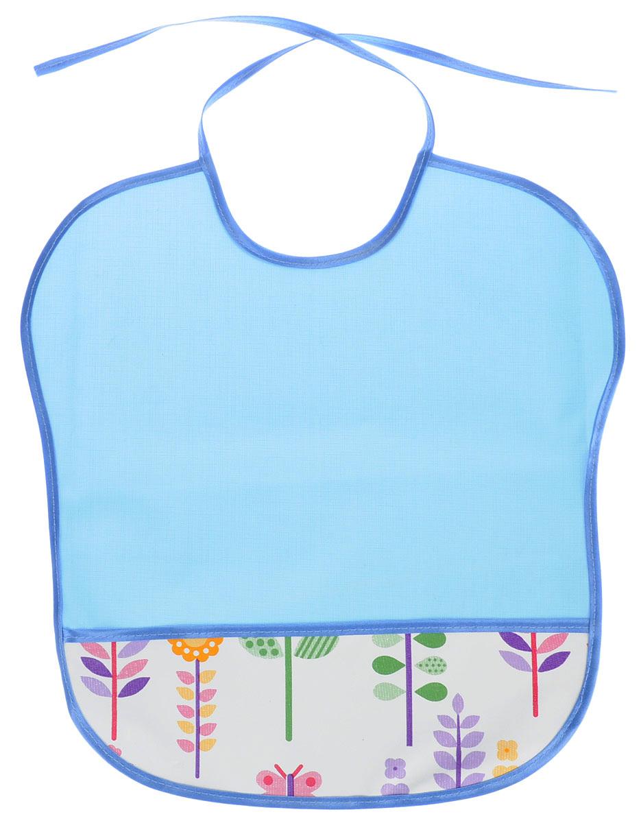 Колорит Нагрудник с карманом цвет голубой 33 х 33 см