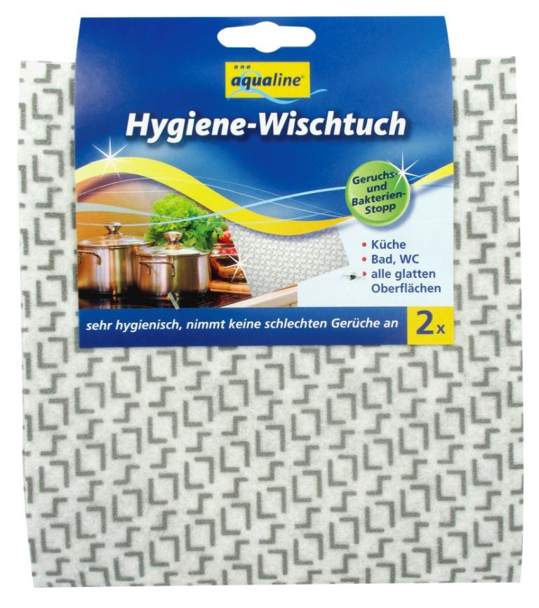 Салфетка гигиеническая Aqualine для уборки, с нано-серебром, 2 шт2159Гигиеническая салфетка Aqualine предназначена для уборки. Она эффективно удаляет любые загрязнения на кухне, в ванной, туалете и любых гладких поверхностях. Благодаря частицам нано-серебра салфетка обеспечивает эффективную защиту от бактерий и препятствует образованию неприятного запаха. Салфетка не теряет антибактериальных свойств даже после многократного применения. Она отличается прочностью, что обеспечивает долгий срок службы изделия. Можно стирать при температуре 60 °С. Характеристики: Материал: 91% вискоза, 9% полиэстер. Размер салфетки: 70 см х 17,5 см. Комплектация: 2 шт. Производитель: Германия. Артикул: 2159.