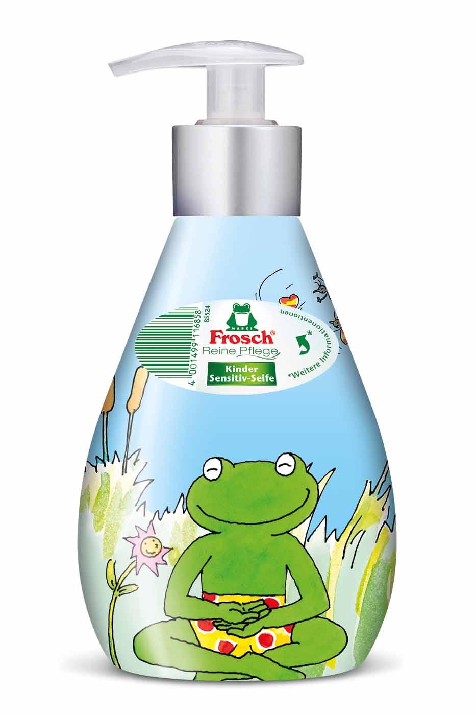 Жидкое детское мыло для рук Frosch, ухаживающее, 300 мл101685Детское мыло для рук Frosch - это мягко ухаживающее мыло, нежные увлажняющие компоненты которого специально разработаны под различные потребности чувствительной детской кожи. Ухаживающее детское мыло Frosch при каждом мытье рук защищает кожу от пересушивания. Кроме того, питательные, смягчающие компоненты сохраняют естественную защиту кожи и дают приятное ощущение мягкости. Эту нежную концепцию дополняет мягкий цветочный аромат. Мыло pH- нейтрально для кожи и проверено дерматологами. Кожно-раздражающее и сенсобилизирующее действие отсутствует. Предназначено для детей от 3-х лет. Характеристики: Состав: вода, лаурил сульфат натрия, глицерин, хлорид натрия, кокамидопропилбетаин, глицерил олеат, коко-глюкозаид, лимонная кислота, салициловая кислота, бензоат натрия, ароматизирующие добавки. Объем: 300 мл. Артикул: 101685. Торговая марка Frosch специализируется на выпуске экологически чистой бытовой химии....