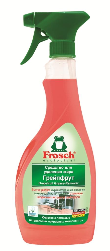 Чистящее средство Frosch для удаления жира, с экстрактом грейпфрута, 500 мл1101294Сильнодействующее чистящее средство Frosch, содержащее натуральный экстракт грейпфрута эффективно и быстро удаляет жир, стойкие загрязнения и засохшую грязь со всех моющихся поверхностей. Идеально подходит для мытья духовки, гриля, стеклокерамических и индукционных плит. Эргономичный флакон оснащен высоконадежным курковым распылителем, позволяющим легко и экономично наносить раствор на загрязненную поверхность. Характеристики: Вес: 500 мл. Производитель: Германия. Товар сертифицирован. Торговая марка Frosch специализируется на выпуске экологически чистой бытовой химии. Для изготовления своей продукции Frosch использует натуральные природные компоненты. Ассортимент содержит все необходимое для бережного ухода за домом и вещами. Продукция торговой марки Frosch эффективно удаляет загрязнения, оберегает кожу рук и безопасна для окружающей среды. Уважаемые клиенты! Обращаем ваше...