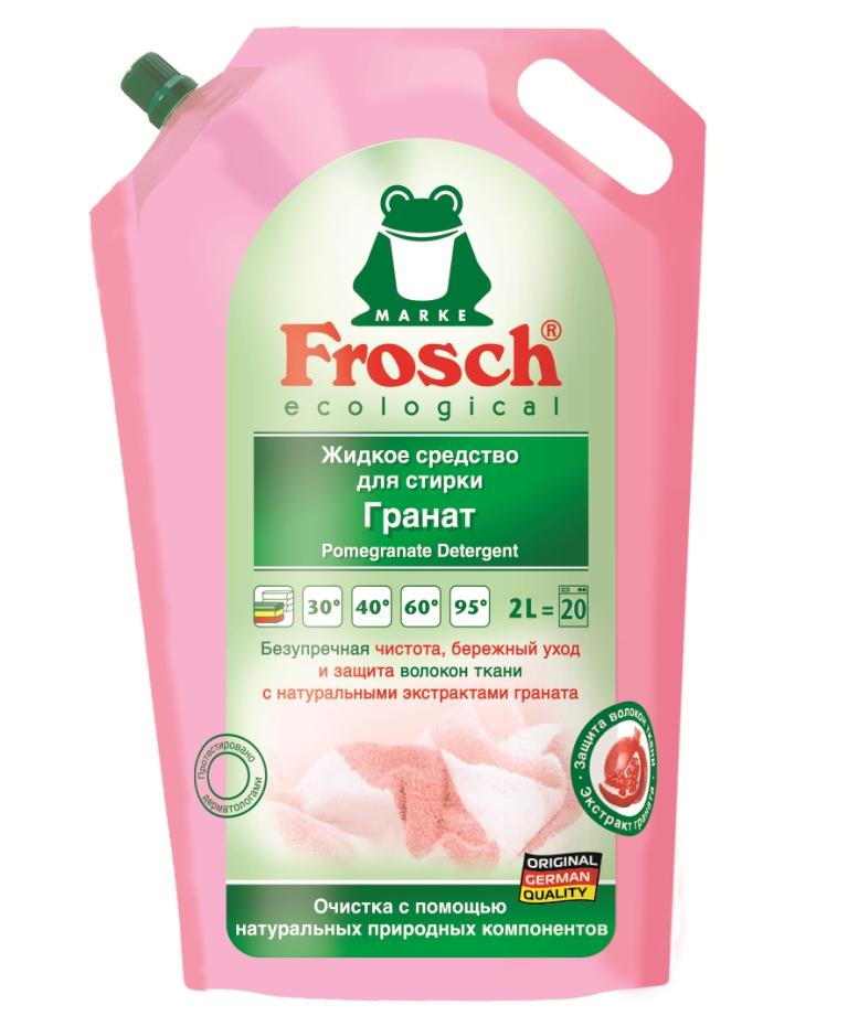 Жидкое средство для стирки Frosch, с экстрактом граната, 2 л712210Уважаемые клиенты! Обращаем ваше внимание на возможные изменения в дизайне упаковки. Качественные характеристики товара остаются неизменными. Поставка осуществляется в зависимости от наличия на складе.