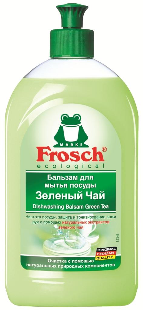 Бальзам для мытья посуды Frosch, аромат зеленого чая, 0,5 л712916Средство для мытья посуды от Frosch - это чистота посуды, защита и тонизирование кожи рук с помощью натуральных экстрактов зеленого чая. Подходит для любого вида посуды. Особенности природного качества: Формула Зеленой Силы с натуральными ингредиентами, подчеркивающими качество очистки и ухода. С ПАВ возобновляемого растительного происхождения, с высоким и быстрым биологическим расщеплением. Безопасные для кожи формулы, протестированные дерматологами. Минимальное использование мягких консервантов и тщательно отобранных ароматизаторов или полный отказ от них. Отсутствие опасных химикатов, таких как фосфаты, бораты, формальдегиды, галогенорганические компоненты, ПВХ. Сниженная нагрузка на окружающую среду благодаря сокращению использования упаковочных материалов. Прогрессивное использование переработанных и перерабатываемых материалов. Не тестируется на животных. Экологически безопасное и энергосберегающее ...