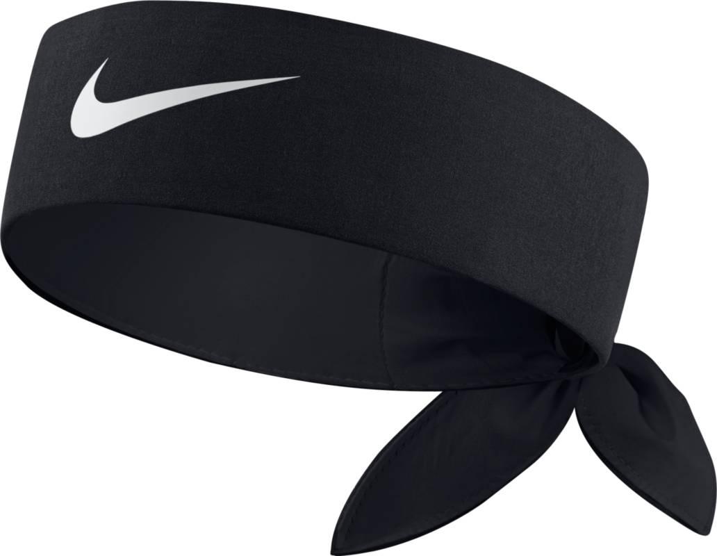 Повязка на голову Nike Tennis Headband, цвет: черный. 646191-010. Размер универсальный646191-010Повязка на голову Nike Tennis Headband из влагоотводящего текстиля Dri-FIT, предотвращающего попадание пота в глаза. Завязывается сзади на узел.