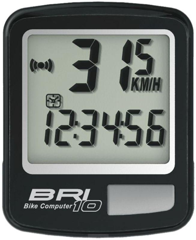 Велокомпьютер Echowell BRI-10, 10 функций, цвет: черныйBRI-10Проводной велокомпьютер Echowell BRI-10 с десятью функциями в стильном корпусе предназначен для использования при занятиях велоспортом, велотуризмом и просто катании на велосипеде. Это удобный и простой в использовании электронный прибор, предоставляющий велосипедисту всю необходимую информацию о поездке. Имеет отличную водо и пылезащиту. Велокомпьютер состоит из двух частей соединенных проводом - дисплея, внешне похожего на электронные часы и датчика скорости. Дисплей крепится на руле с возможностью мгновенно отсоединить его, когда нет желания оставлять на велосипеде без присмотра или под дождем. Магнитный датчик скорости (геркон) крепится рядом с колесом. Велокомпьютер определяет скорость движения с точностью до десятых долей, дистанцию - с точностью до 10 метров. На дисплее функции поочередно сменяют друг друга. Все операции и настройки выполняются одной кнопкой.Функции: - Скорость текущая - Скорость средняя - Скорость максимальная - Дистанция поездки...