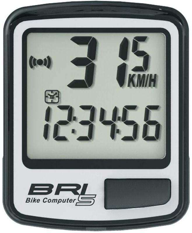Велокомпьютер Echowell BRI-5, 5 функций, цвет: серыйBRI-5Проводной велокомпьютер Echowell BRI-5 с пятью функциями в стильном корпусе предназначен для использования при занятиях велоспортом, велотуризмом и просто катании на велосипеде. Это удобный и простой в использовании электронный прибор, предоставляющий велосипедисту всю необходимую информацию о поездке. Имеет отличную водо и пылезащиту. Велокомпьютер состоит из двух частей соединенных проводом - дисплея, внешне похожего на электронные часы и датчика скорости. Дисплей крепится на руле с возможностью мгновенно отсоединить его, когда нет желания оставлять на велосипеде без присмотра или под дождем. Магнитный датчик скорости (геркон) крепится рядом с колесом. Велокомпьютер определяет скорость движения с точностью до десятых долей, дистанцию - с точностью до 10 метров. На дисплее функции поочередно сменяют друг друга. Все операции и настройки выполняются одной кнопкой.Функции: - Скорость текущая - Дистанция поездки - Одометр - Часы - Скан (функция скан...
