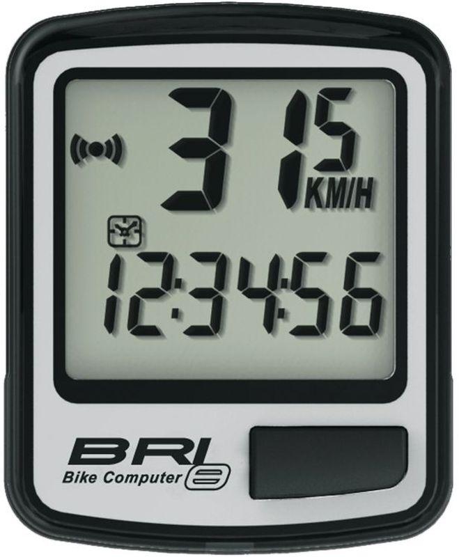 Велокомпьютер Echowell BRI-8, 8 функций, цвет: серыйBRI-8Проводной велокомпьютер Echowell BRI-8 с восемью функциями в стильном корпусе предназначен для использования при занятиях велоспортом, велотуризмом и просто катании на велосипеде. Это удобный и простой в использовании электронный прибор, предоставляющий велосипедисту всю необходимую информацию о поездке. Имеет отличную водо и пылезащиту. Велокомпьютер состоит из двух частей соединенных проводом - дисплея, внешне похожего на электронные часы и датчика скорости. Дисплей крепится на руле с возможностью мгновенно отсоединить его, когда нет желания оставлять на велосипеде без присмотра или под дождем. Магнитный датчик скорости (геркон) крепится рядом с колесом. Велокомпьютер определяет скорость движения с точностью до десятых долей, дистанцию - с точностью до 10 метров. На дисплее функции поочередно сменяют друг друга. Все операции и настройки выполняются одной кнопкой.Функции: - Скорость текущая - Скорость средняя - Скорость максимальная - Дистанция поездки...