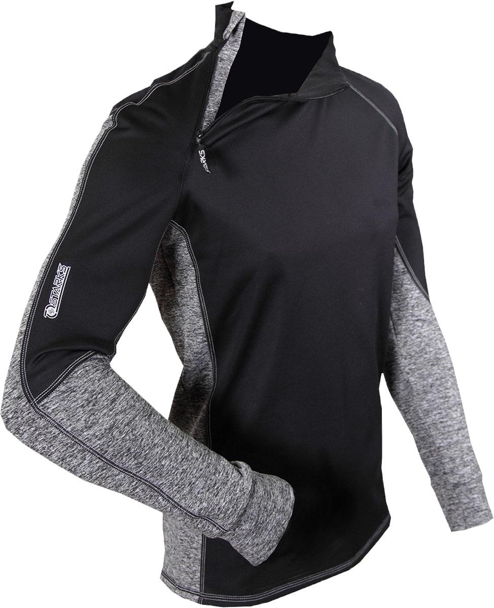 Фуфайка Starks Warm Long Shirt Extreme, зимняя, цвет: черно-серый. Размер MЛЦ0024_Mвысокотехнологичное термобелье, гарантированно на 100% не пропускает ветер, хорошо тянется и выпускает влагу наружу. Белье рекомендуется для использования не только спортсменам зимних видов спорта, но и парашютистам, мотоциклистам, велосипедистам -всем кто испытывает дискомфорт при сильном ветре, повышенной влажности. Анатомическое, выполнено из Европейской сертифицированной ткани Polarstretchи Windstopper. Высокие эластичные свойства материала позволяют белью максимально повторять индивидуальную анатомию тела. Отличные влагоотводящиесвойства, позволяют телу оставаться сухим. Термоизоляционные свойства, позволяют исключить переохлаждение или перегрев. Воротник стойка обеспечивает защиту шеи от холода. Молния -легкое одевание кофты. Особенности: STOP BACTERIA-Ткань с ионами серебра, предотвращает образование и развитие бактерий. Исключено образование запаха. Защита от перегрева или переохлаждения Система мягких и плоских швов Гипоаллергенно Состав:...