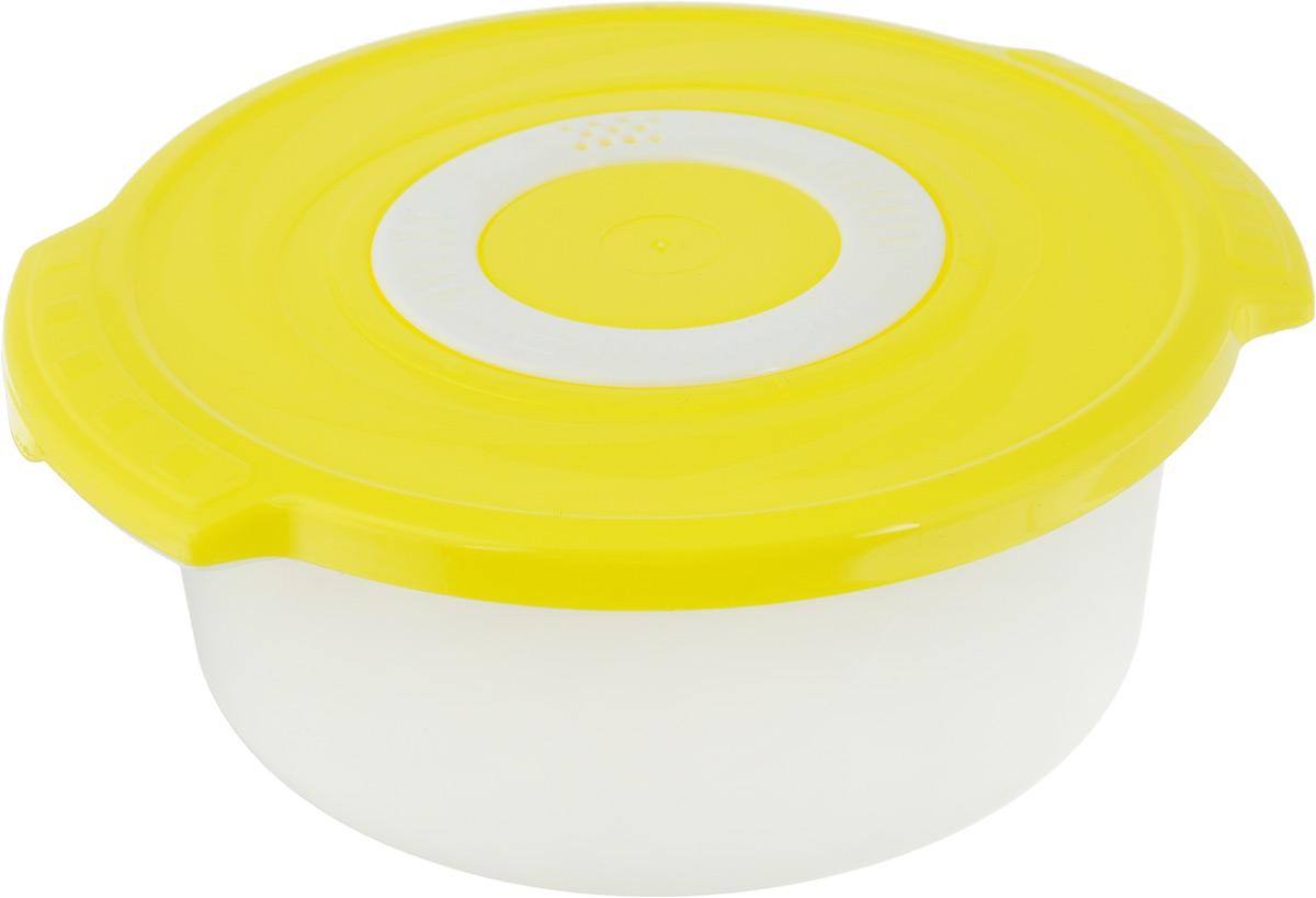 Кастрюля для СВЧ Plastic Centre Galaxy, цвет: желтый, 1,4 лПЦ2271Круглая кастрюля для СВЧ Plastic Centre Galaxy изготовлена из высококачественного полипропилена, устойчивого к высоким температурам. Яркая цветная крышка плотно закрывается, дольше сохраняя продукты свежими и вкусными. Кастрюля снабжена паровыпускным клапаном, который можно регулировать. Кастрюля прекрасно подойдет для разогрева и приготовления пищи в СВЧ. Объем кастрюли: 1,4 л. Размеры кастрюли: 210 х 185 х 81 см.