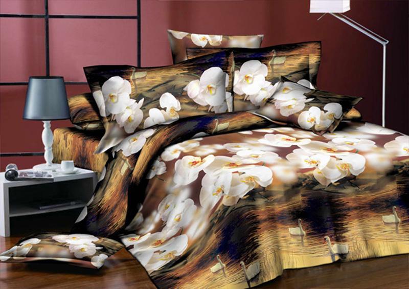Комплект белья ЭГО Вечер, 1,5-спальный, наволочки 70x70Э-2042-01Комплект белья ЭГО выполнен из полисатина (50% хлопка, 50% полиэстера). Комплект состоит из пододеяльника, простыни и двух наволочек. Постельное белье имеет изысканный внешний вид и яркую цветовую гамму. Гладкая структура делает ткань приятной на ощупь, мягкой и нежной, при этом она прочная и хорошо сохраняет форму. Ткань легко гладится, не линяет и не садится. Приобретая комплект постельного белья ЭГО, вы можете быть уверенны в том, что покупка доставит вам и вашим близким удовольствие и подарит максимальный комфорт.