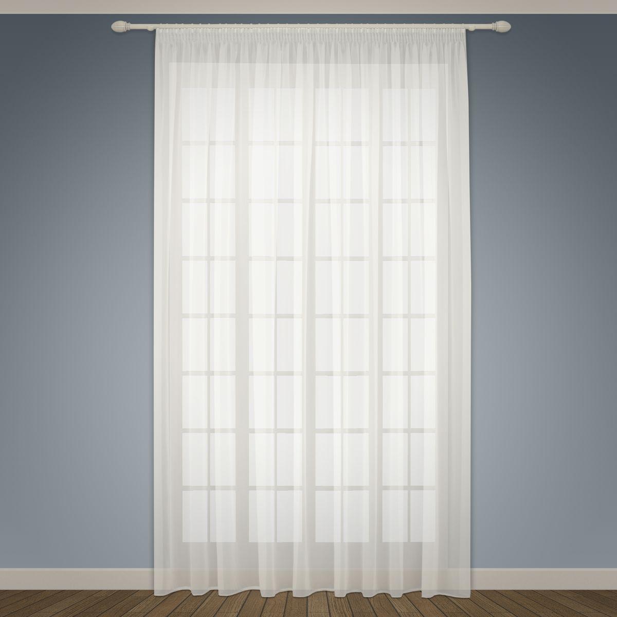 Тюль Sanpa Home Collection Аманда, на ленте, цвет: белый, высота 260 смHP vual/1585/1E Аманда белый, , 300*260 см