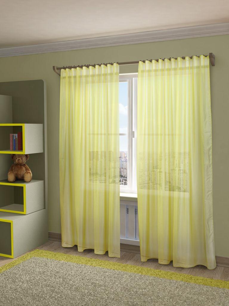 Тюль Sanpa Home Collection Пегги, на ленте, цвет: желтый, высота 280 смHP10058/25/1E Пегги желтый, , 300*280 см