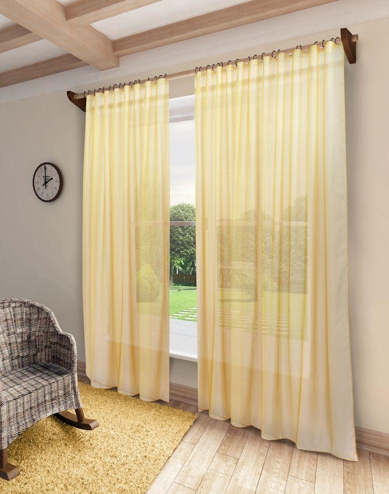 Тюль Sanpa Home Collection Пегги, на ленте, цвет: оранжевый, высота 280 смHP10058/27/1E Пегги оранжевый, , 300*280 см