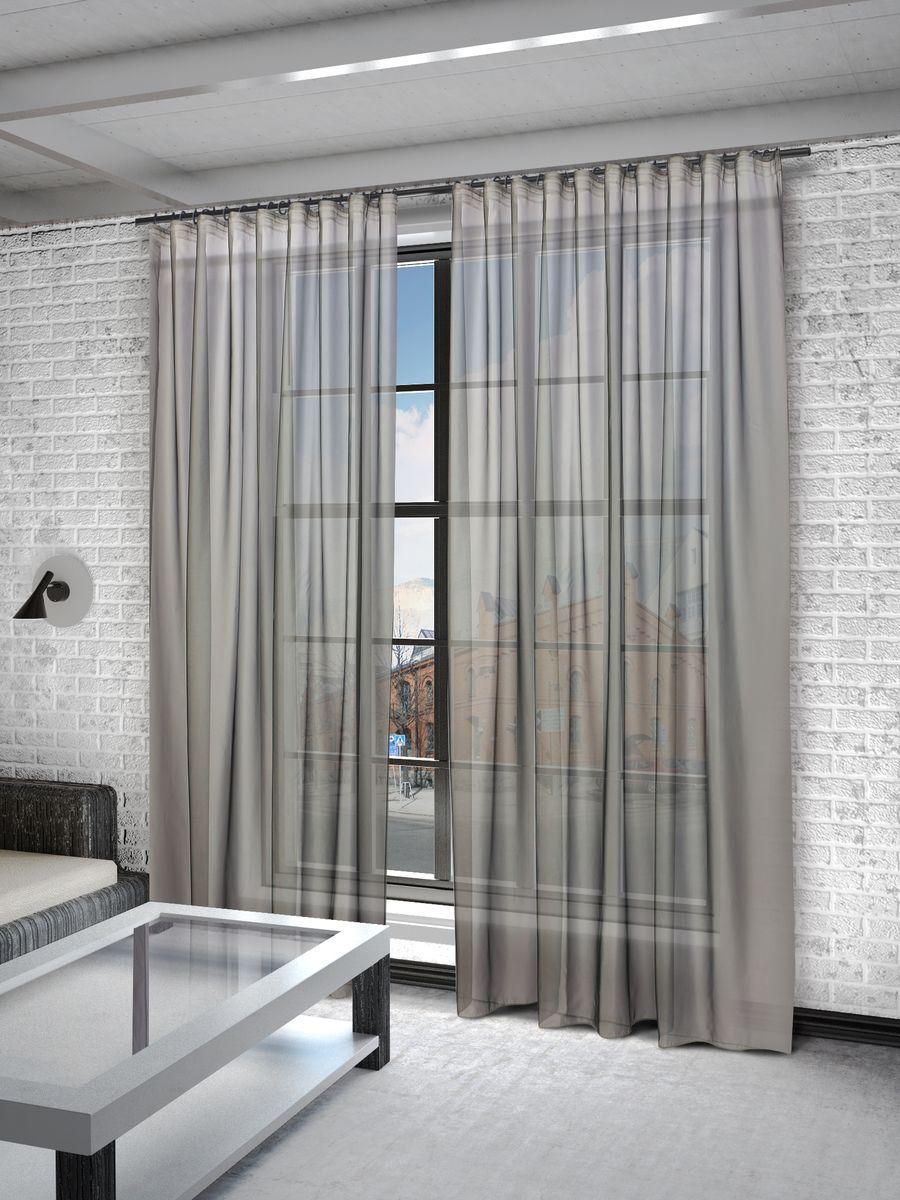 Тюль Sanpa Home Collection Пегги, на ленте, цвет: серый, высота 280 смHP10058/216/1E Пегги серый, , 300*280 см