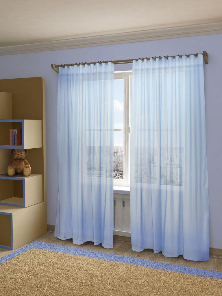 Тюль Sanpa Home Collection Пегги, на ленте, цвет: голубой, высота 280 смHP10058/49/1E Пегги голубой, , 300*280 см