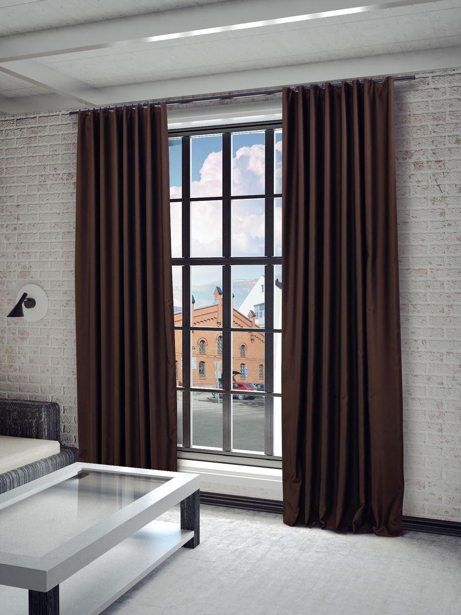 Штора Sanpa Home Collection Твила, на ленте, цвет: коричневый, высота 280 смHP blackout/1514/1E Твила коричнев., , 200*280 см