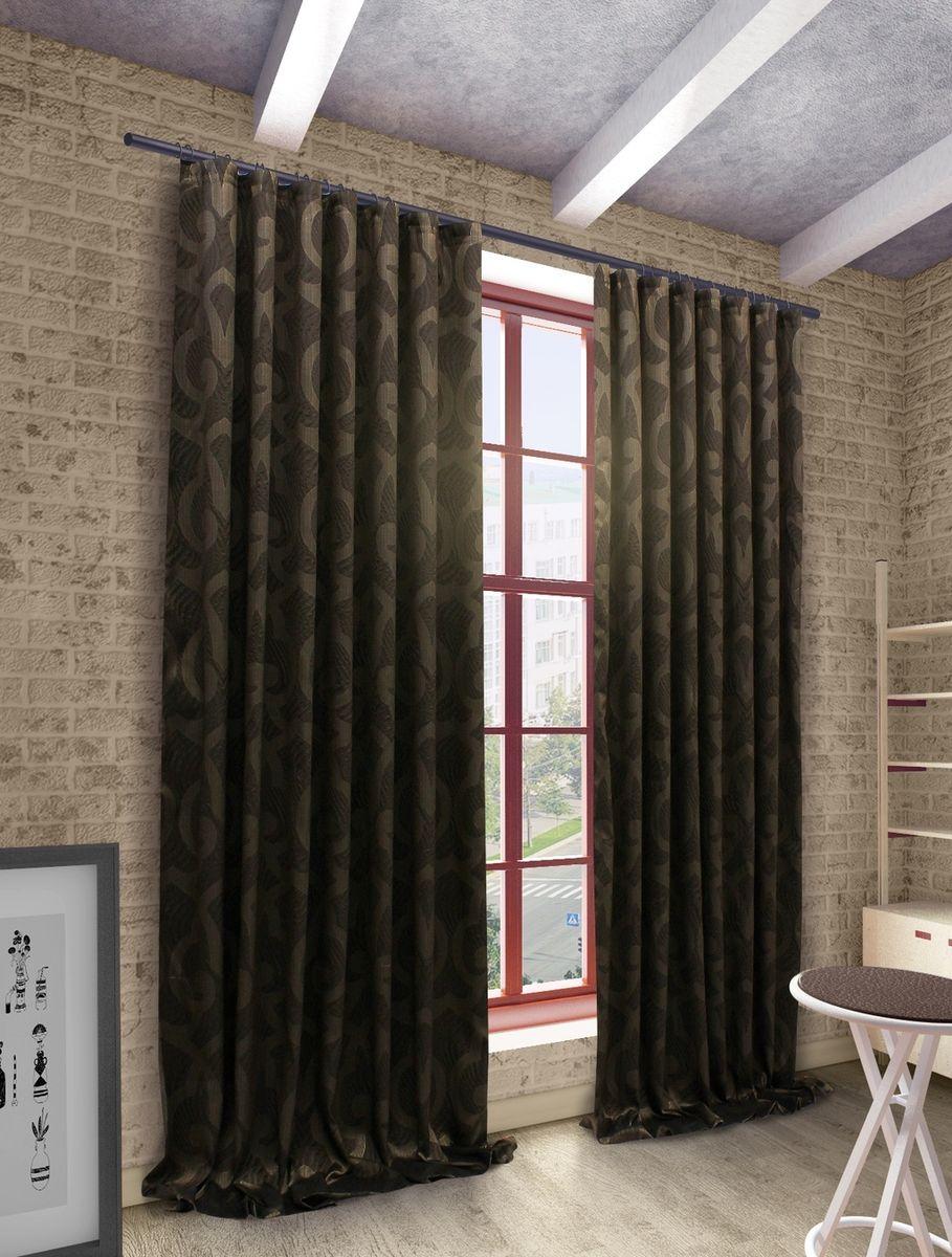 Штора Sanpa Home Collection Герда, на ленте, цвет: коричневый, высота 280 смHP1924/21/1Е Герда коричн, , 200*280 см