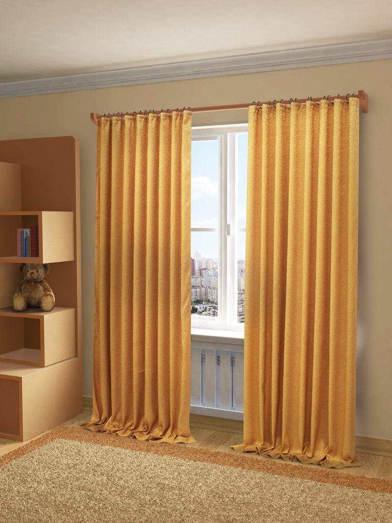 Штора Sanpa Home Collection Шерил, на ленте, цвет: золотистый, высота 270 смHP71016/8137/1E Шерил золотистый, , 200*270 см