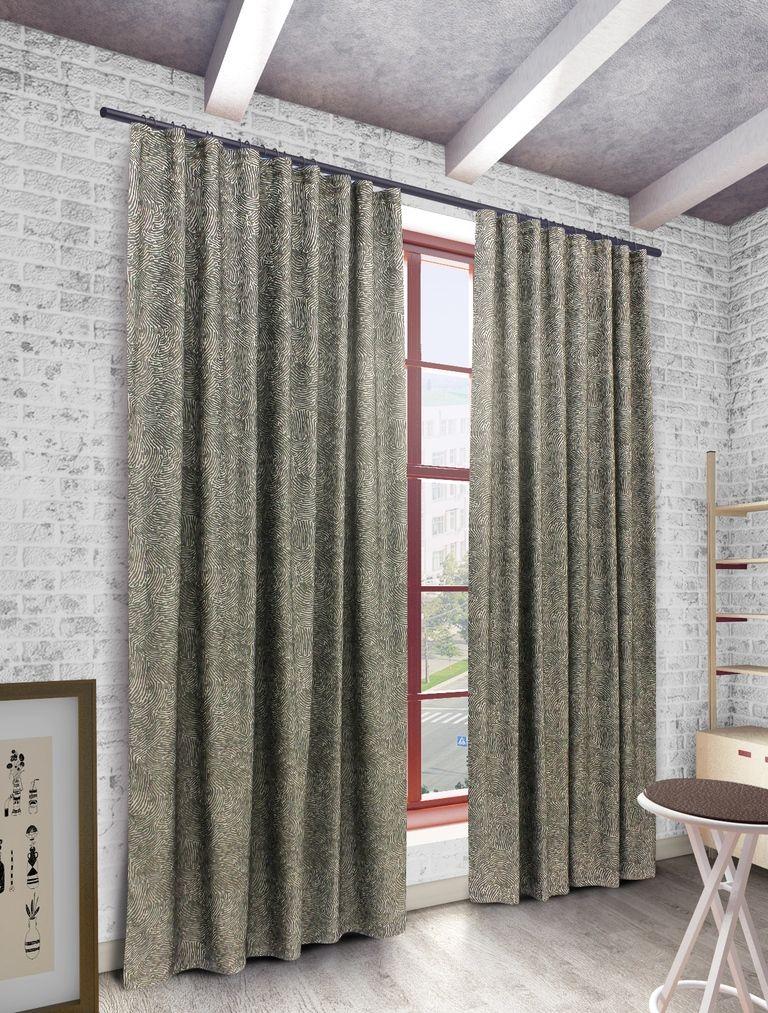 Штора Sanpa Home Collection Викки, на ленте, цвет: серый, высота 280 смHP3115/18/1E Викки серый, , 200*280 см