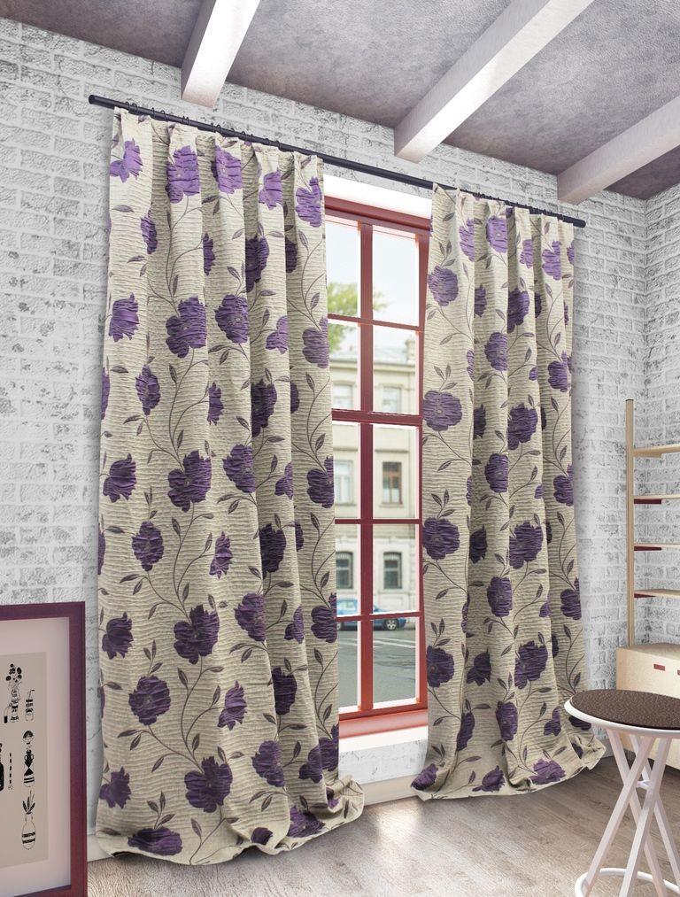 Штора Sanpa Home Collection Ранди, на ленте, цвет: фиолетовый, высота 280 смHP192155/10/1Е Ранди фиолет, , 200*280 см