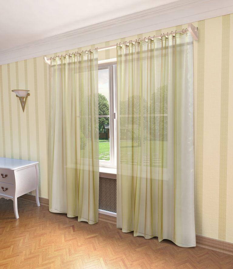 Тюль Sanpa Home Collection Мери, на ленте, цвет: бежевый, высота 280 смHP10001/48/1E Мери бежевый, , 300*280 см